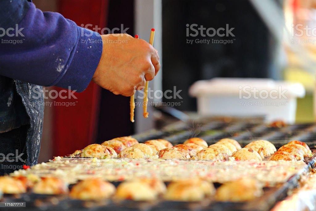 Octopus dumplings, Takoyaki stock photo