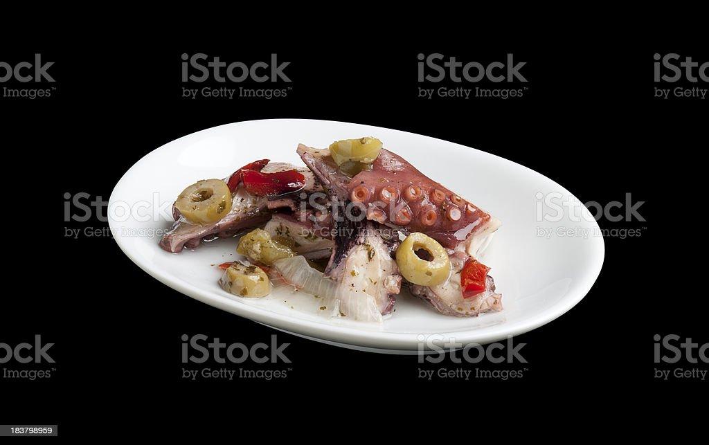Octopus Salad royalty-free stock photo
