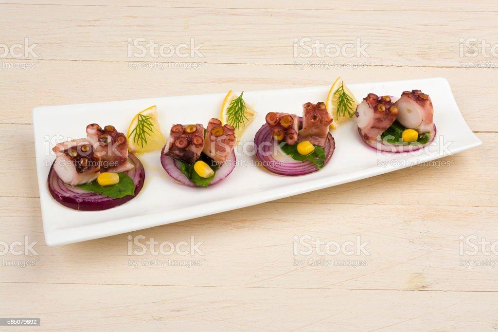 Octopus Salad stock photo