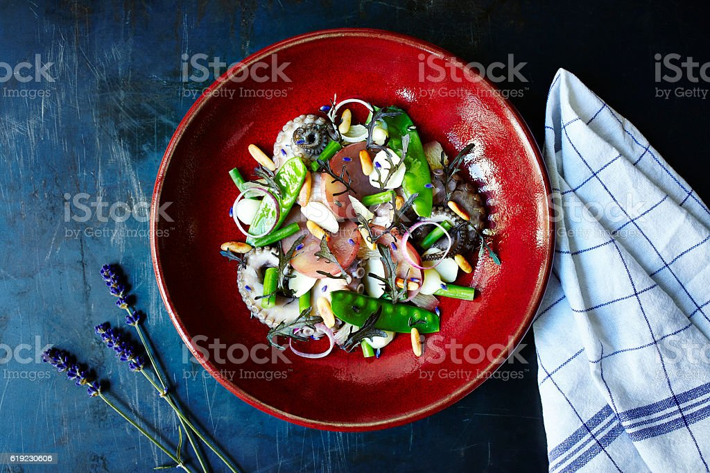 Octopus Salad stock photo