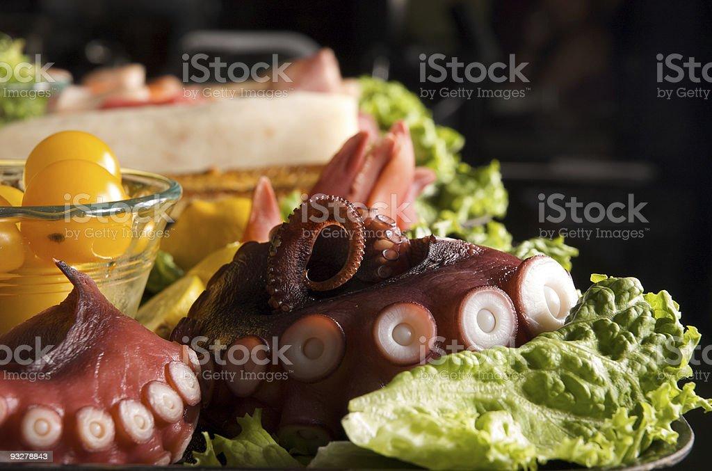 octopus sushi bar royalty-free stock photo