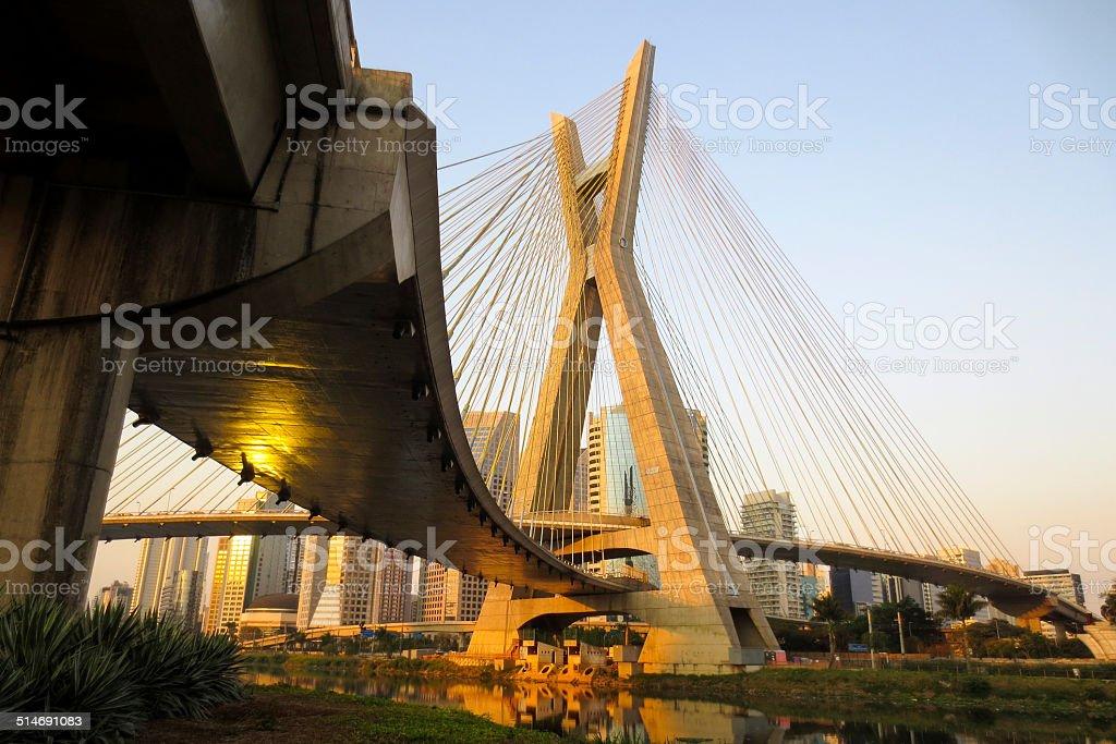 Octávio Frias de Oliveira Bridge stock photo