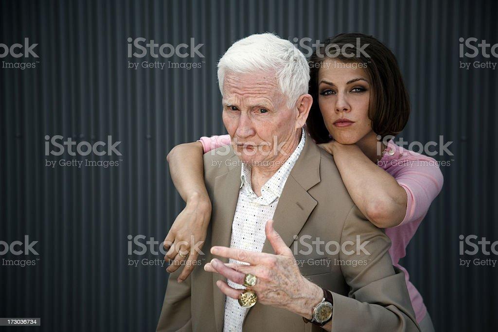 Odd Couple stock photo