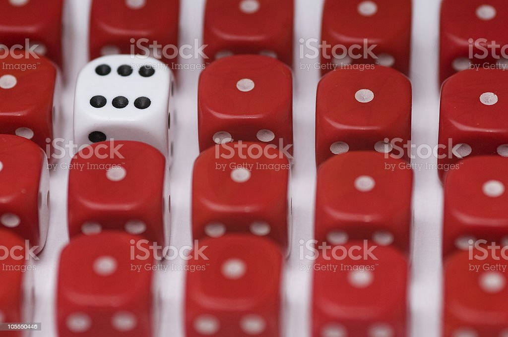 Odd Dice Out royalty-free stock photo
