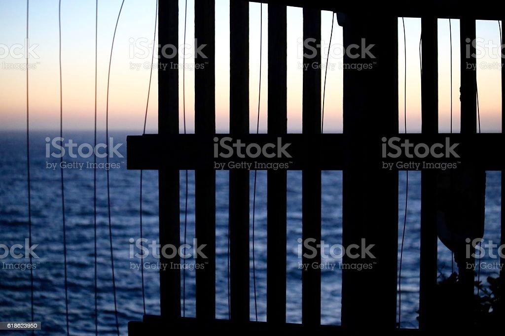 Odd Fence stock photo