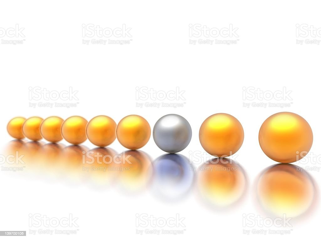 Odd Man Out royalty-free stock photo