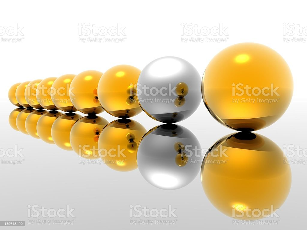 Odd Man Out Version 2.0 royalty-free stock photo