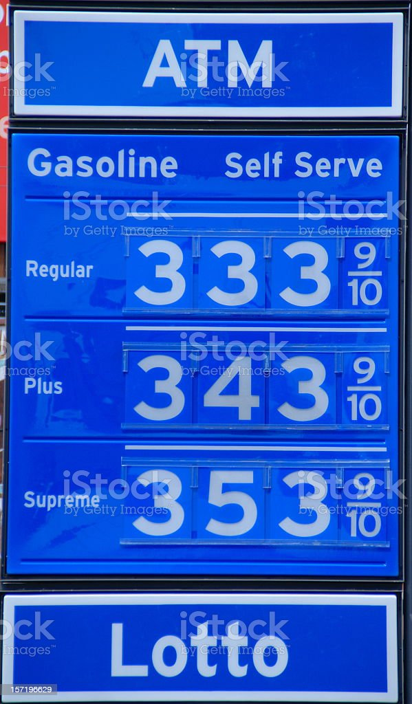Odd Numbered Gas Prices royalty-free stock photo