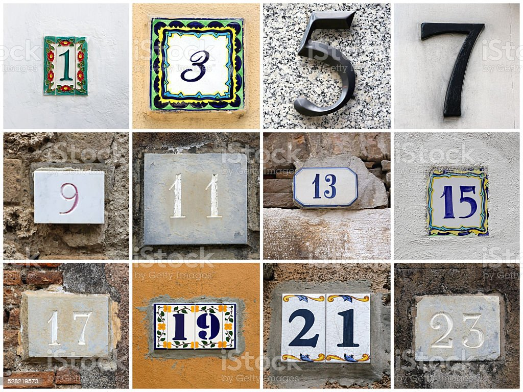 Odd numbers stock photo