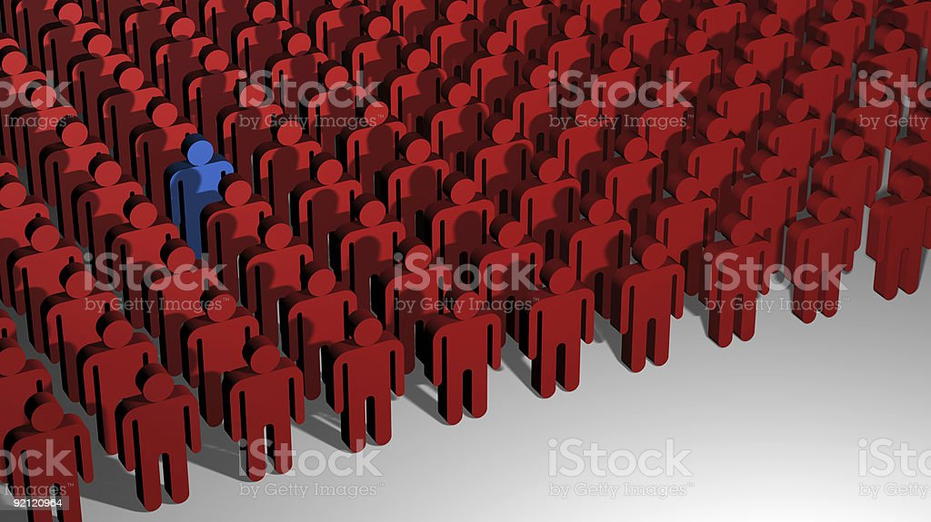 Odd One Out (3D) royalty-free stock photo