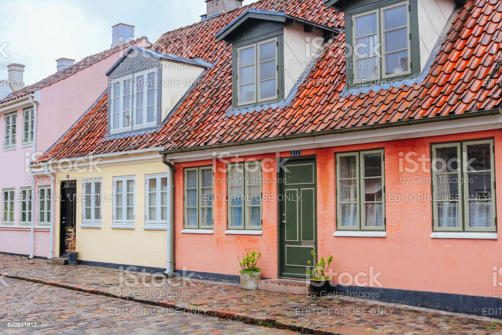 Odense Old Town stock photo