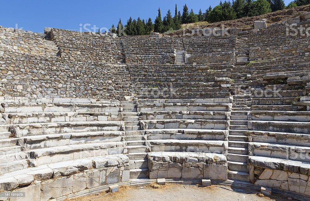 Odeon, ancient Ephesus, Turkey royalty-free stock photo