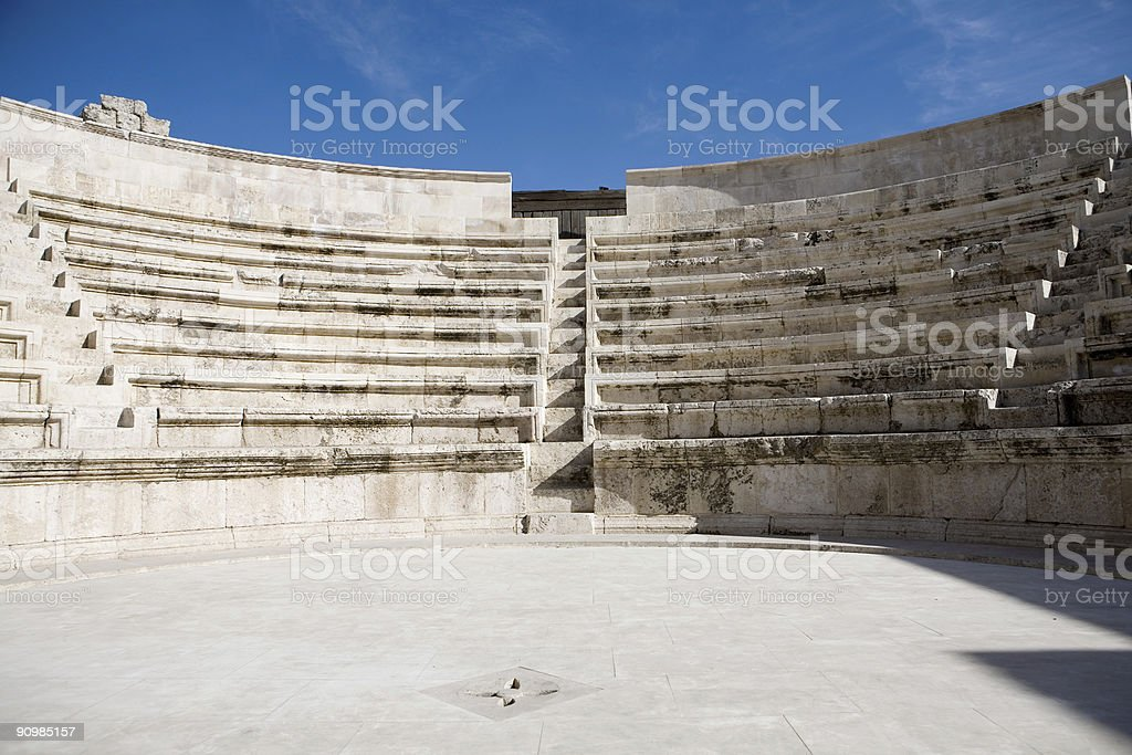 Odeon of Amman stock photo