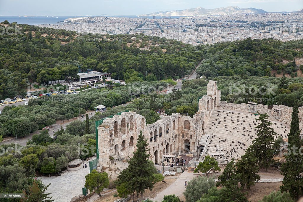 Odeon of Herodes Atticus in Athens stock photo