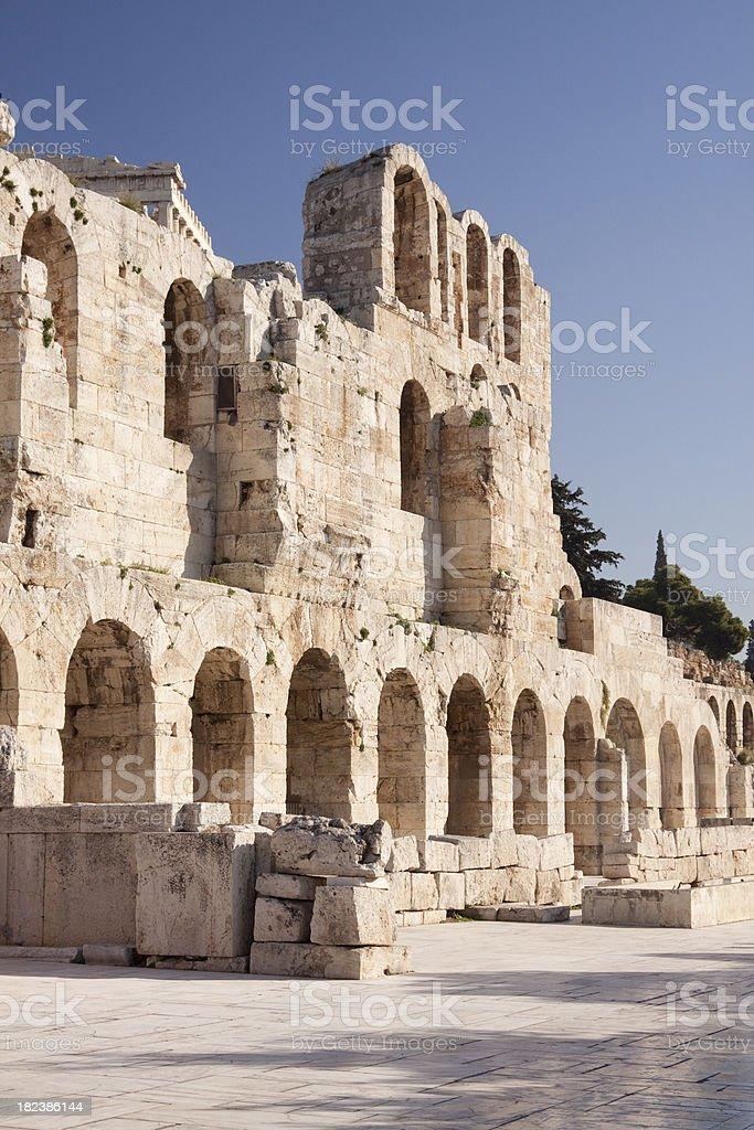 Odeon of Herodes Atticus on Acropolis Athens royalty-free stock photo