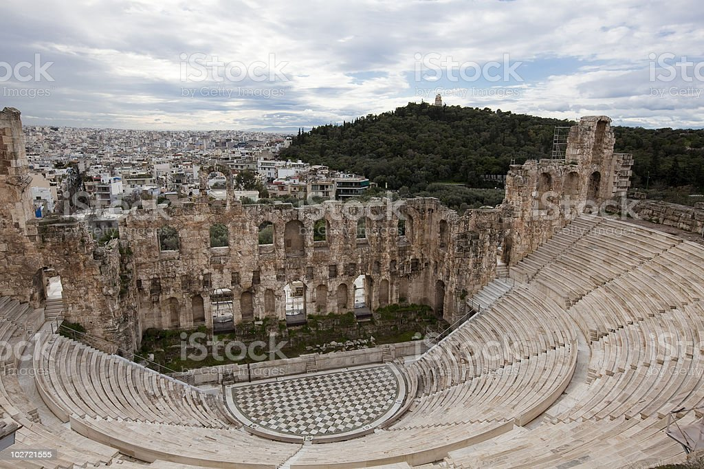 Odeon (Theatre) of Herodes Atticus stock photo