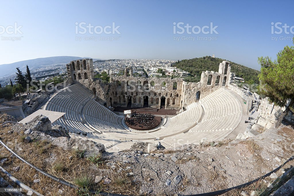 Odeon of Herodes Atticus royalty-free stock photo