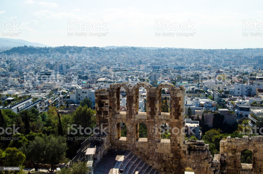 Odeon of Herodes Atticus stock photo