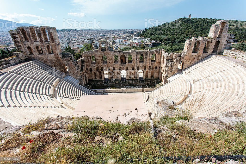 Odeon theatre of Herodes Atticus in Athens, Greece - Europe stock photo