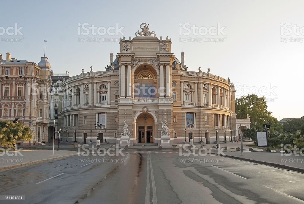 Odessa Opera and Ballet Theater in Odessa city, Ukraine. stock photo