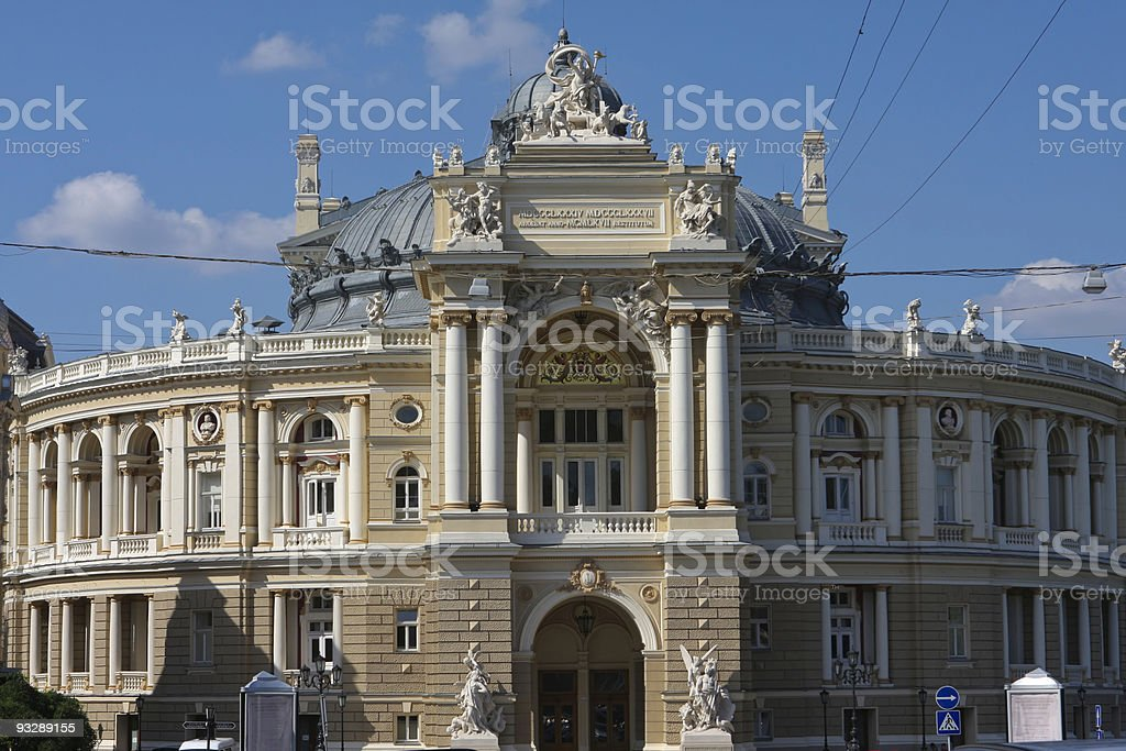 Odessa Opera & Ballet Theatre stock photo