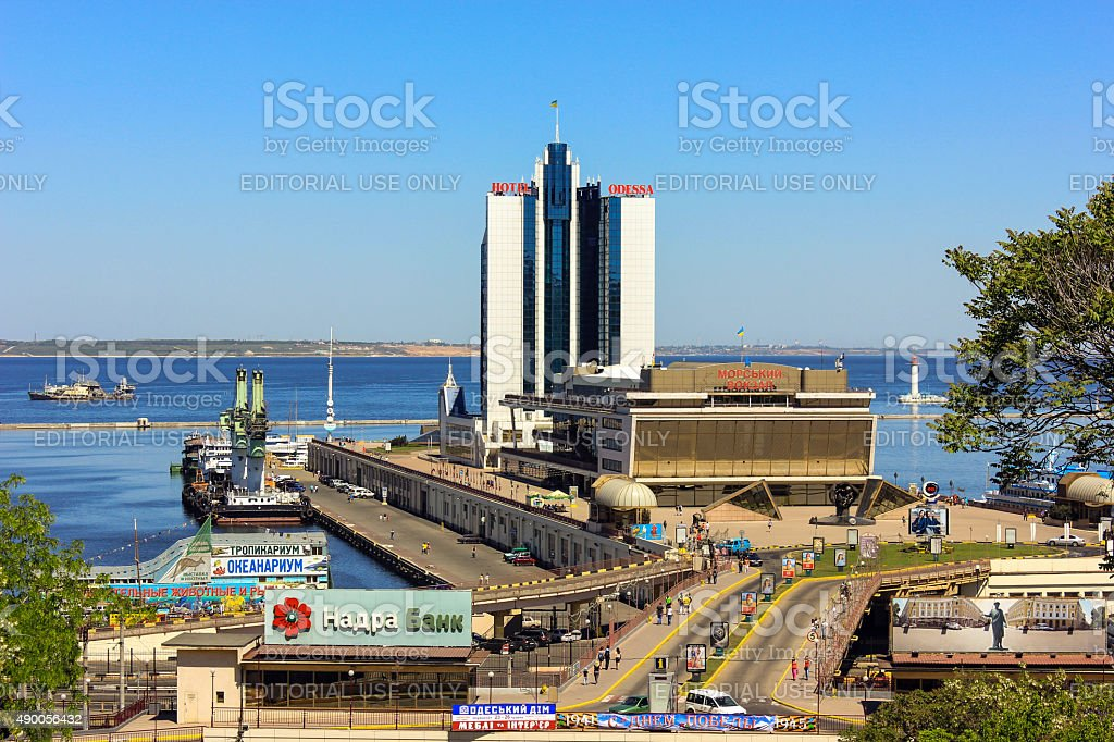 Odessa Sea Port stock photo