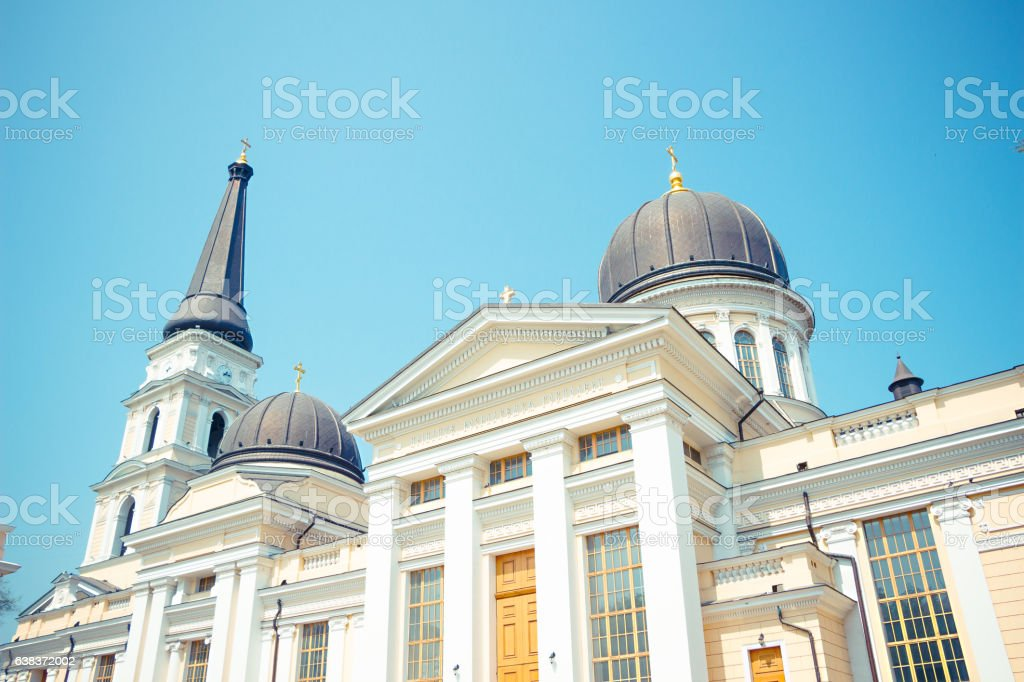 Odessa Spaso-Preobrazhensky Cathedral stock photo