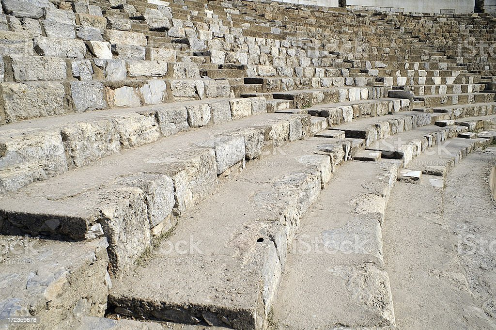 Odeum Seating at Ephesus Turkey royalty-free stock photo