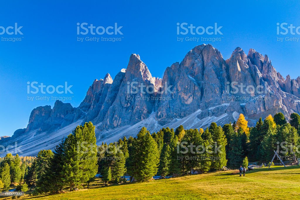 Odle di Funes, Italy stock photo