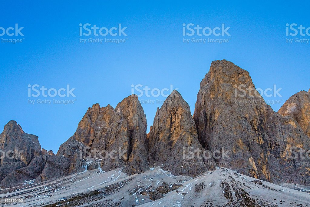Odle di Funes, Italy royalty-free stock photo