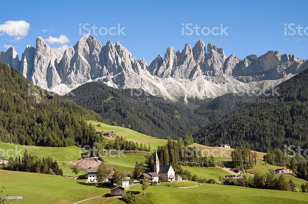 Odle,Val di Funes,Sudtirol,Italia stock photo