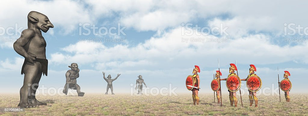 Odysseus at the Laestrygonians stock photo
