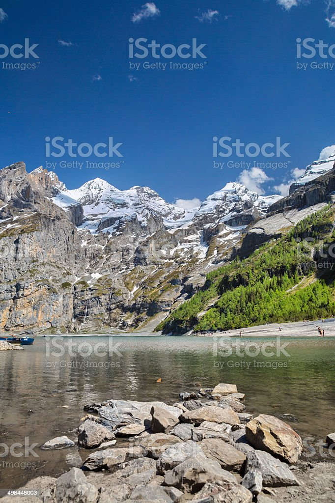 Oeschinen Lake stock photo