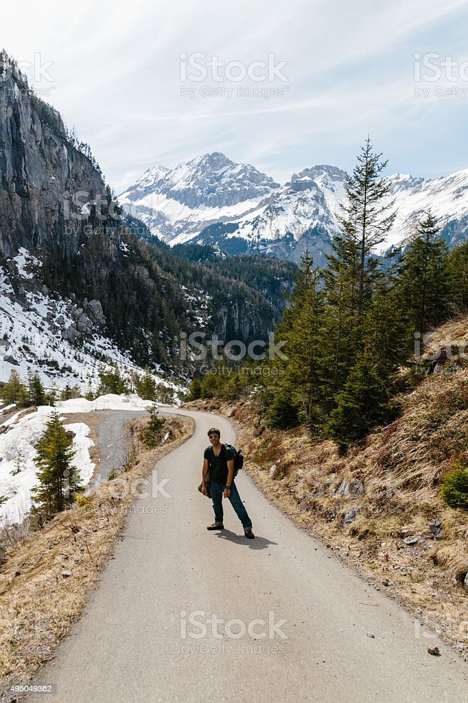 Oeschinensee, Kandersteg, Switzerland. stock photo
