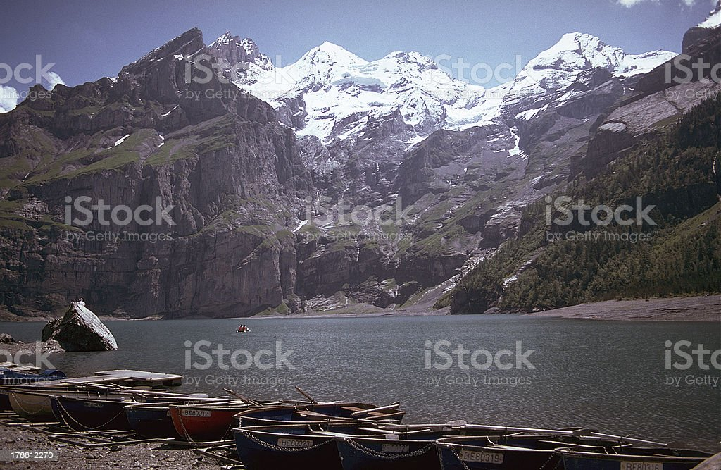 Oeschinensee - Swiss Alps royalty-free stock photo