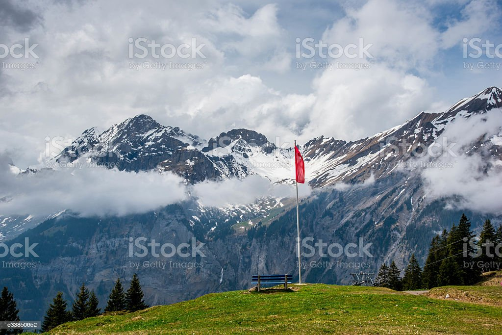 Oeschinensee - Switzerland stock photo