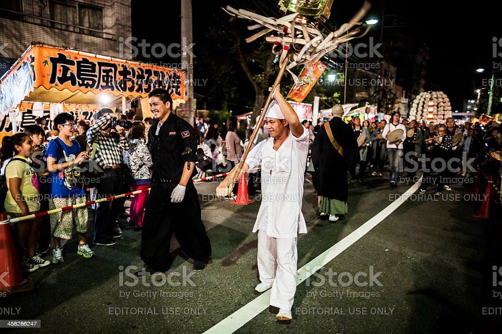 Oeshiki festival Tokyo Japan royalty-free stock photo