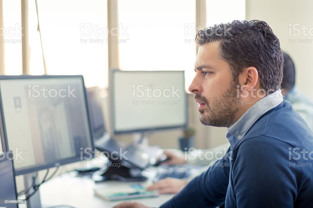 CEO of a small company - worried stock photo