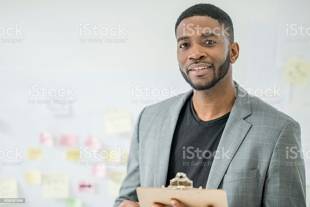 CEO of a Start Up Company stock photo