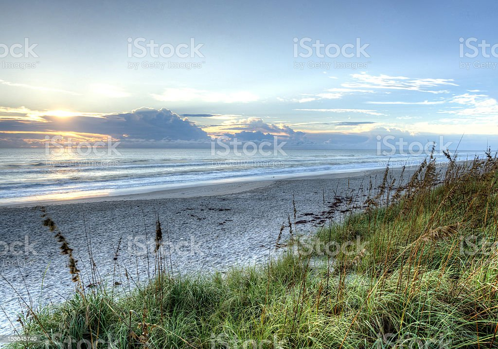 HDR of Beach in Florida stock photo