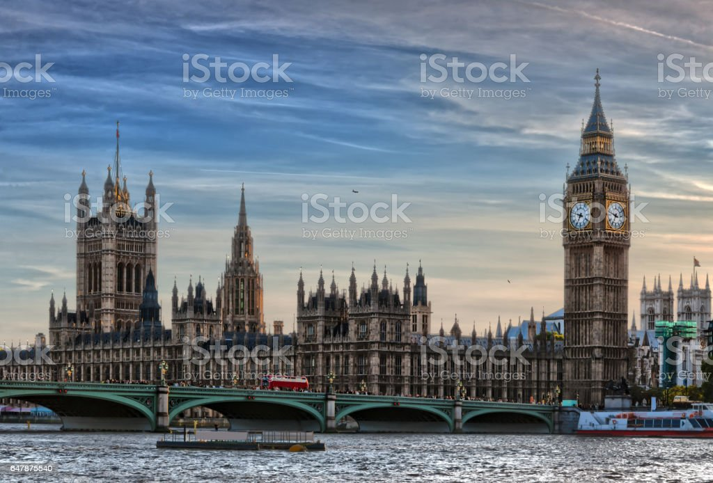 HDR of Big Ben and Houses of Parliament stock photo
