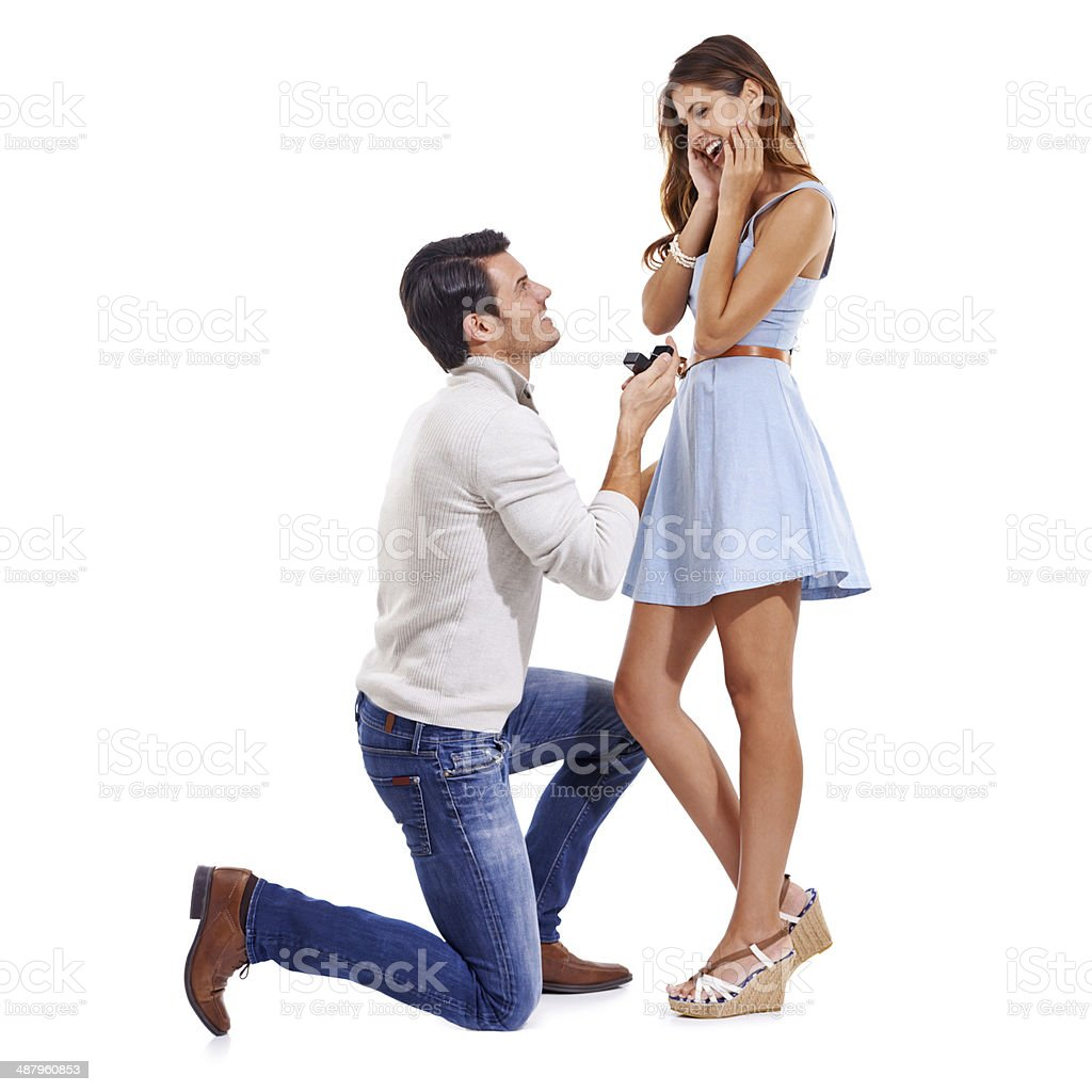 Of course! A million times yes! stock photo