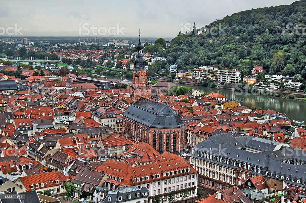 HDR of Heidelberg in Germany royalty-free stock photo