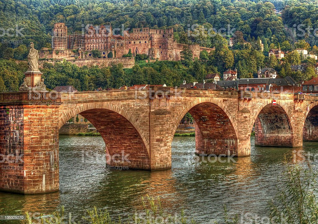 HDR of Heidelberg in Germany stock photo