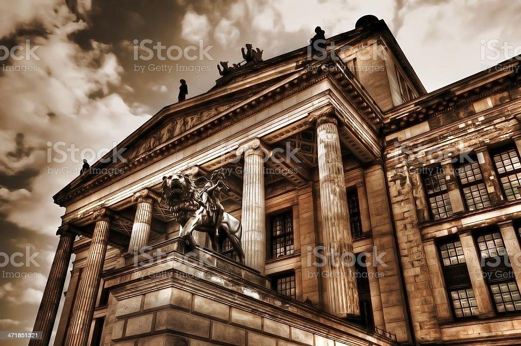 HDR of Konzerthaus once called Schauspielhaus (Gendarmenmarkt) Berlin Germany stock photo