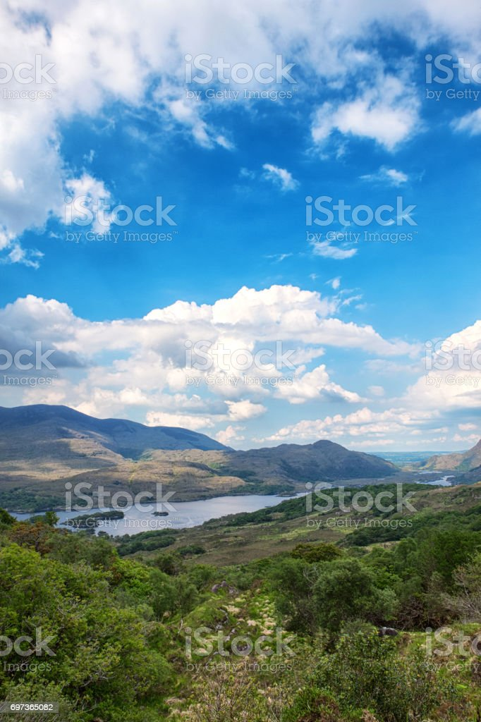 HDR of Ladies View on the Ring of Kerry, Ireland stock photo