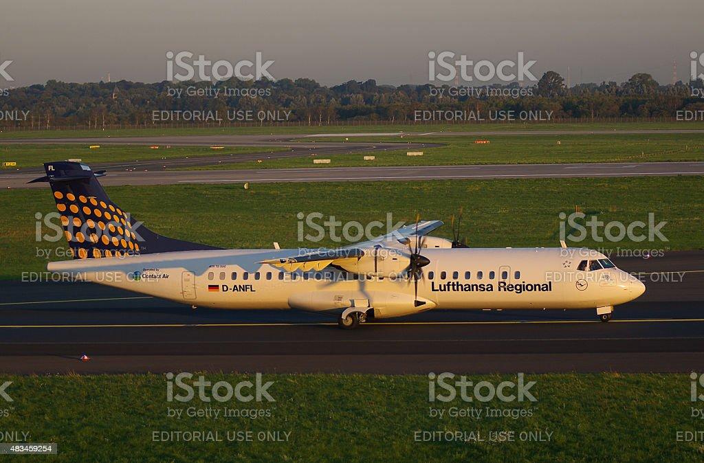 ATR 72-500 of Lufthansa Regional stock photo