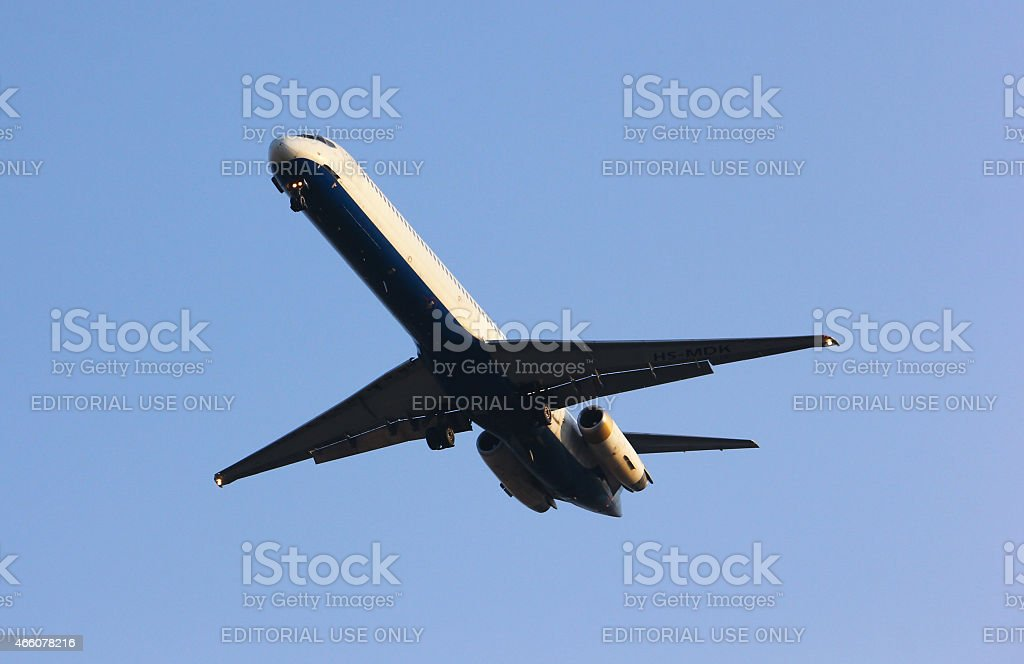 HS-OMK  MD-82 of One two go airline stock photo