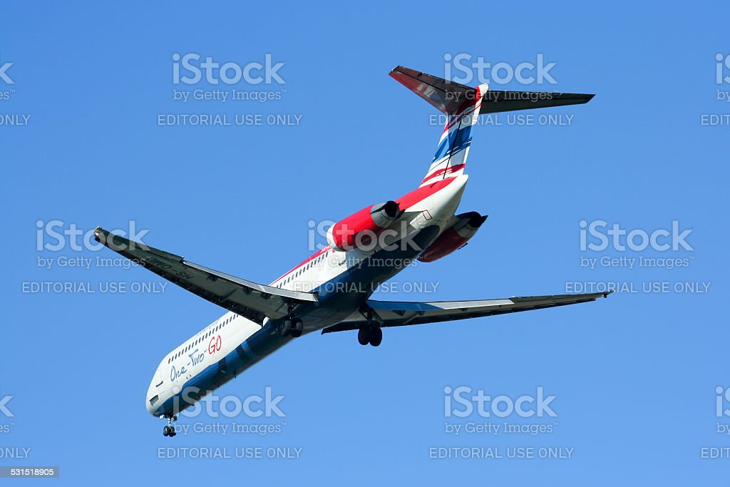 HS-OMD MD-82 of One two go airline stock photo