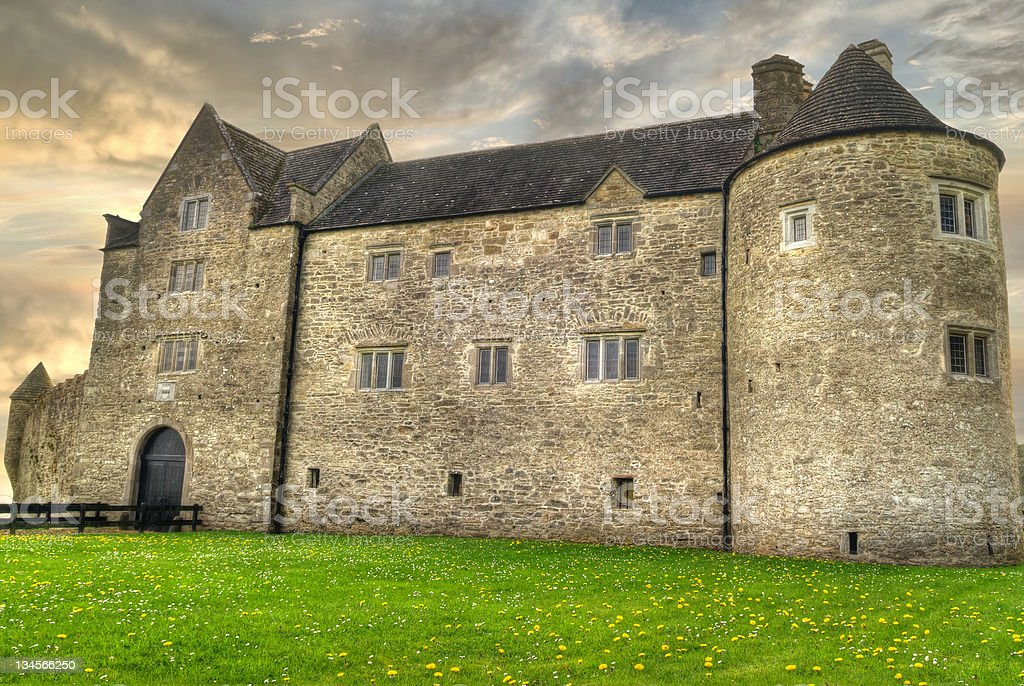 HDR of Parkes Castle stock photo